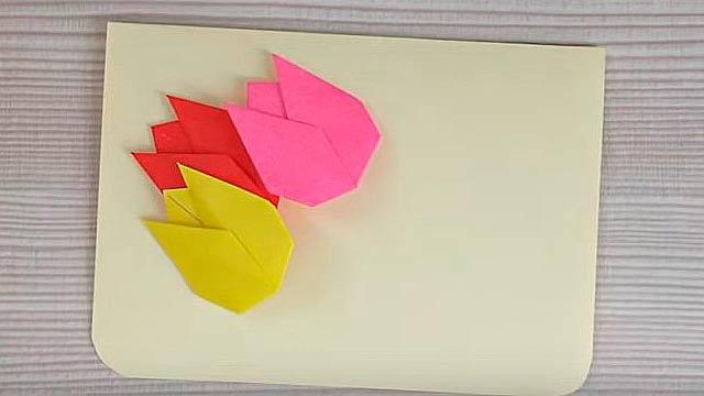 Открытка оригами для бабушки своими руками, букетами фото открытки