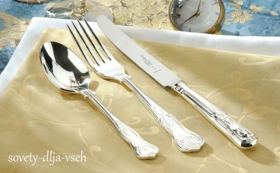 чем можно чистить столовое серебро