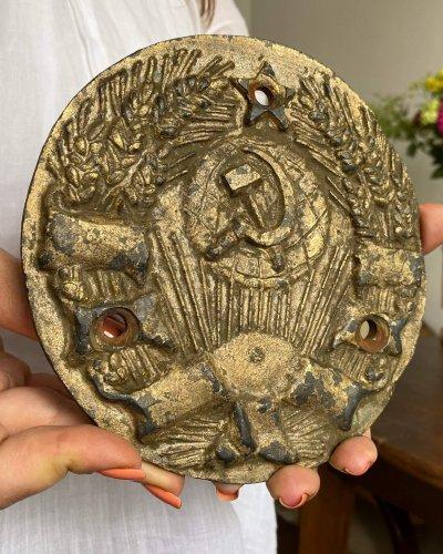 Plaque en Bronze – Années 30 – Armoiries 6 Républiques