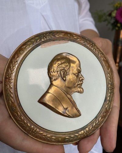 Bas relief – Tirage 50000 – Lenine Bronze Émaillé