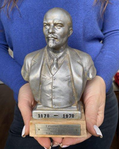 Buste Lenine – Prague 1970 – Métal