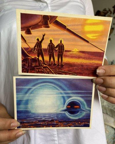 Lot de 26 Cartes postale – Conquête Spatiale URSS – Futurisme – Années 60