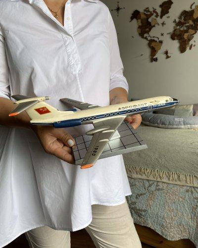 Modèle Avion Sovietique – Tupolev 134 – Métal