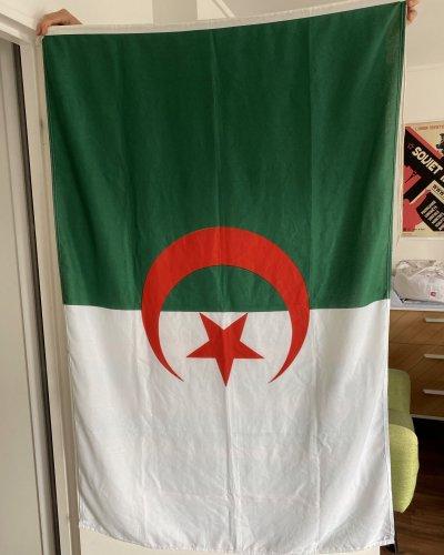 Drapeau Authentique – Navire – Algérie