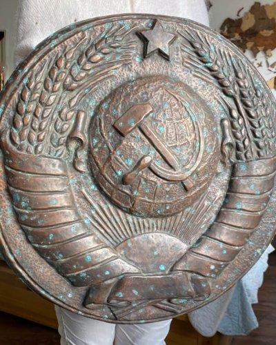 Armoiries URSS – Cuivre – 2.5KG – 55 cm Diamètre
