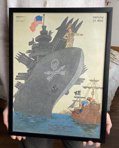 Affiche Pirate – USA – Soviétique