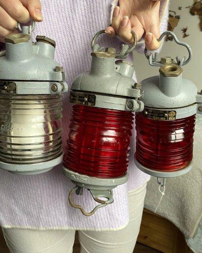 Trois Lampe Signalisation Marine Soviétique – Neuve