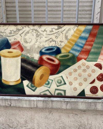 Peinture Publicitaire Soviétique – Années 50 – Mercerie