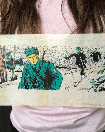 Peinture Main Soviétique – Papier Huilé Propagande