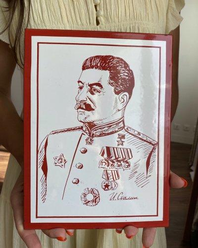 Plaque Émaillée Joseph Staline – Années 50