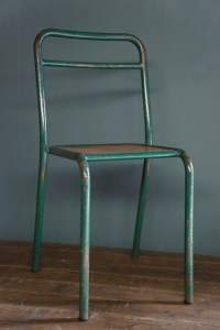 Seating : Vintage School Chairs - Green