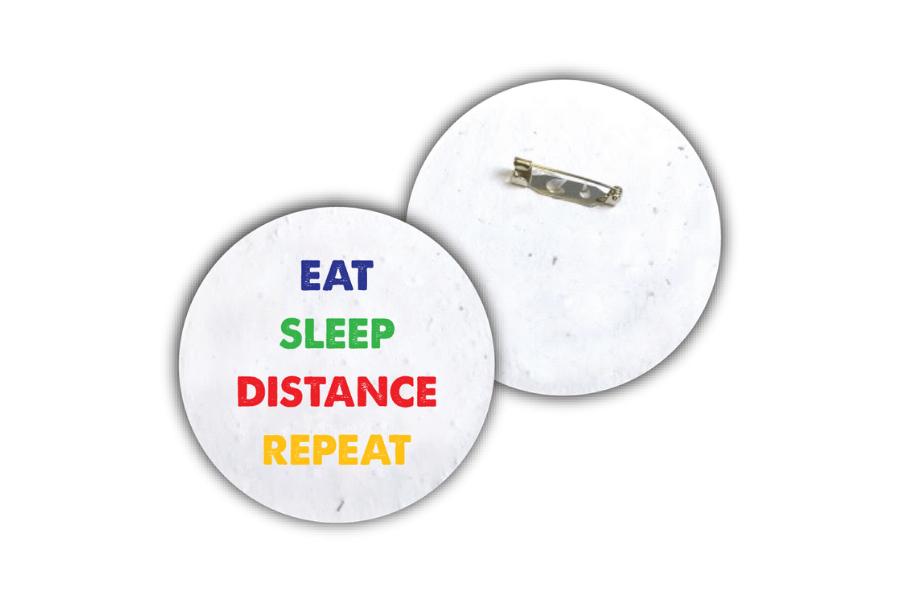 Plantable Social Distance Badges