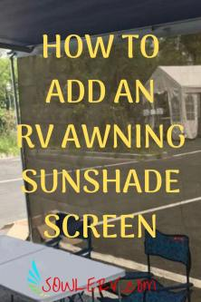 RV Awning Sunshade Screen - SOWLE RV