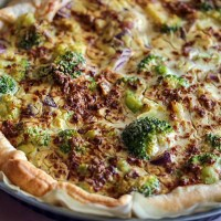 Broccoli speckjes quiche