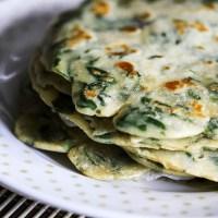 Vegan spinaziepannenkoeken