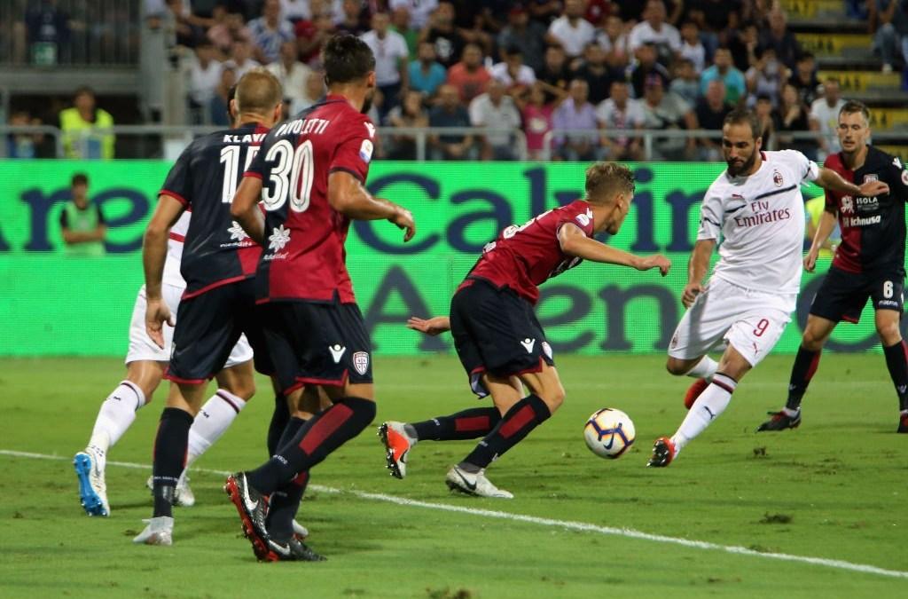 El Cagliari 1-1 Milan en cinco detalles