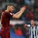 Dzeko marca y la Roma sigue en la carrera por la Champions