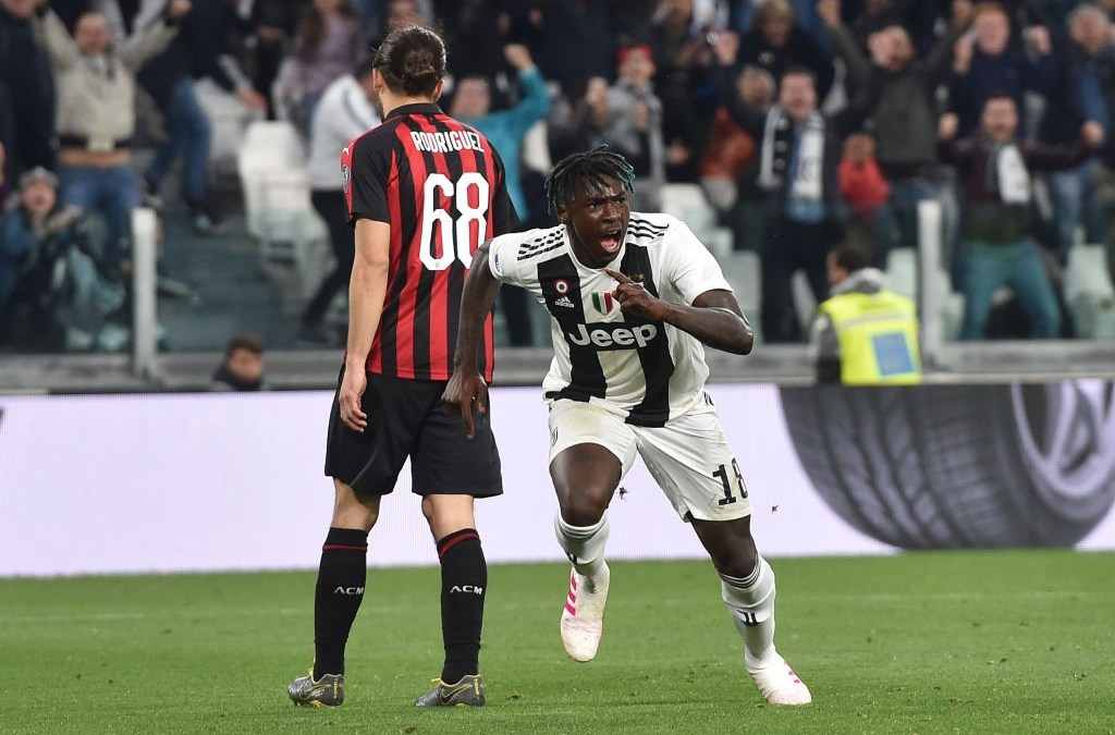 Kean se impone al Milan y la Juventus acaricia el Scudetto