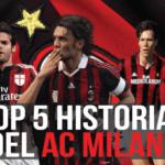 ¿Cuáles son los cinco mejores futbolistas de la historia del Milan?