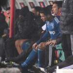Sarri confirma que cambió a Cristiano Ronaldo por molestias físicas