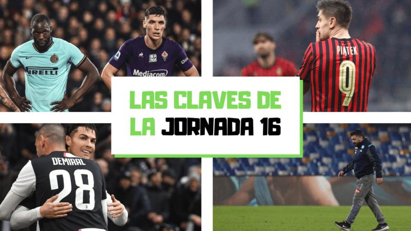 Análisis de la jornada 16: La Juventus brilla con su tridente