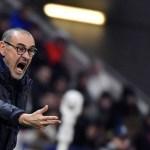 Sarri pierde la paciencia: «No puedo hacer que los jugadores lo entiendan»