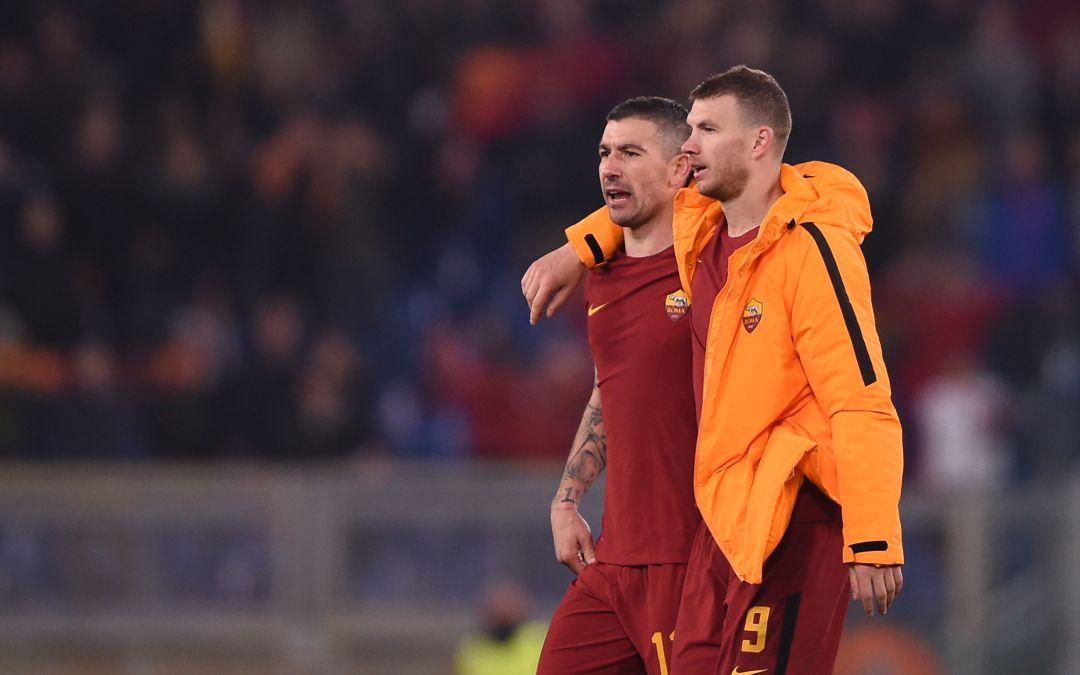 Dzeko y Kolarov se comprometen a quedarse otra temporada en la Roma