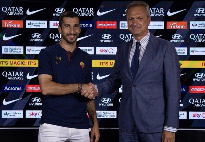 OFICIAL | La Roma confirma un acuerdo con el Arsenal para la cesión de Mkhitaryan hasta 2021