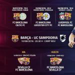 La pretemporada del FC Barcelona, al detalle.