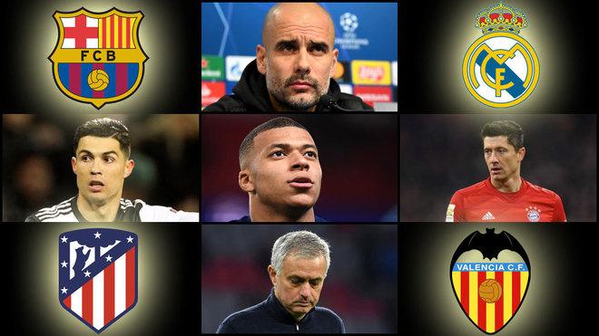 El análisis de los posibles rivales de Real Madrid, Barcelona, Valencia y Atlético