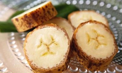 plátano con piel comestible
