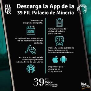 App de la Feria Internacional del Libro del Palacio de Minería 2018 - Fuente: FILPM