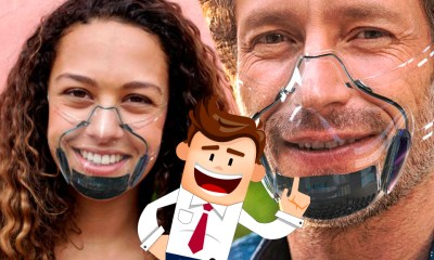 ¡Para volver a la oficina! Lanzan primera mascarilla transparente certificada