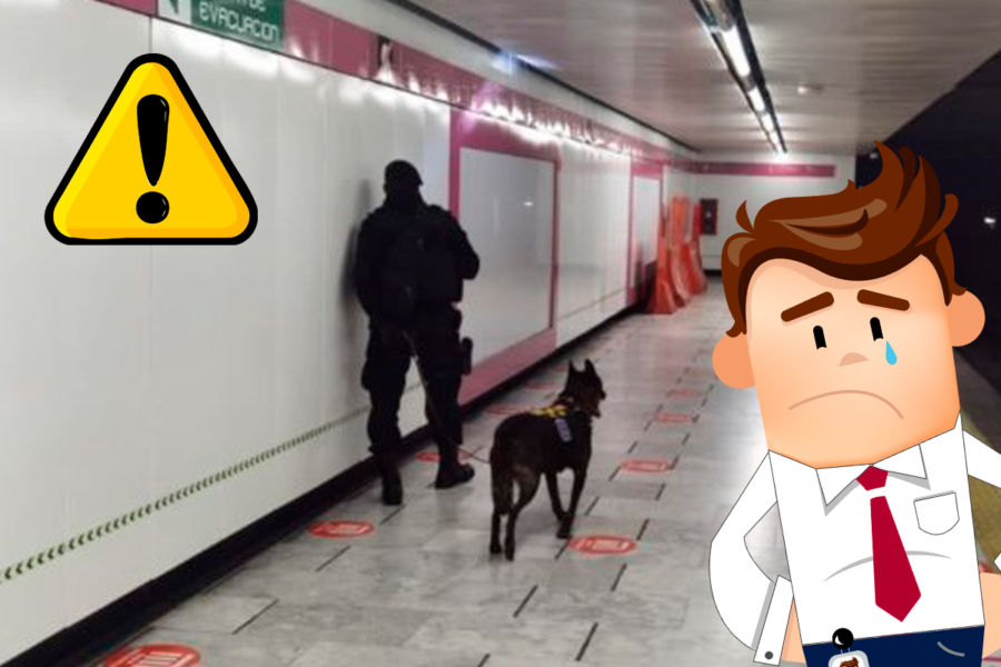 Amenaza de bomba en estacion del metro de la CDMX