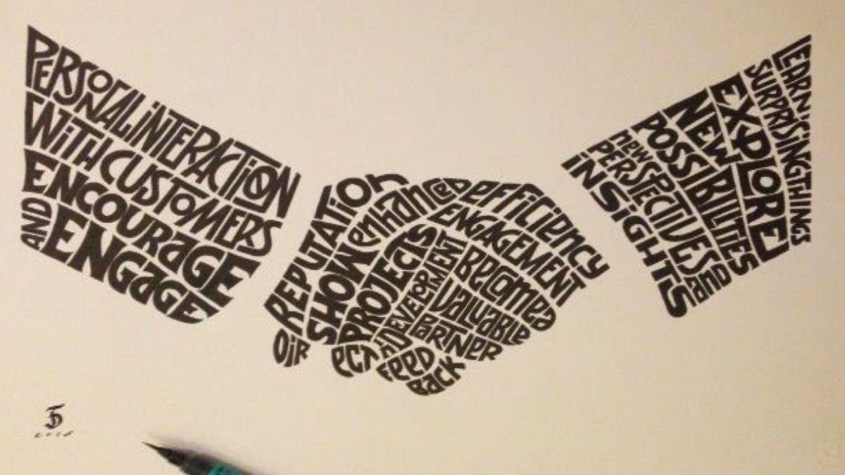 Como hacer un caligrama
