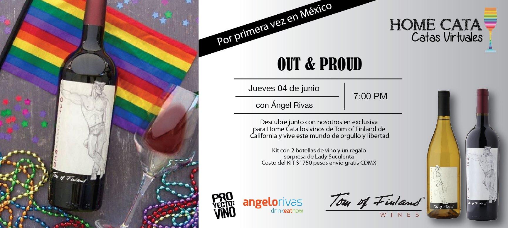 Por primera vez en México, el mes del orgullo se celebra con los vinos Tom of Finland que llegan en exclusiva a la #HomeCata de ProyectoVino