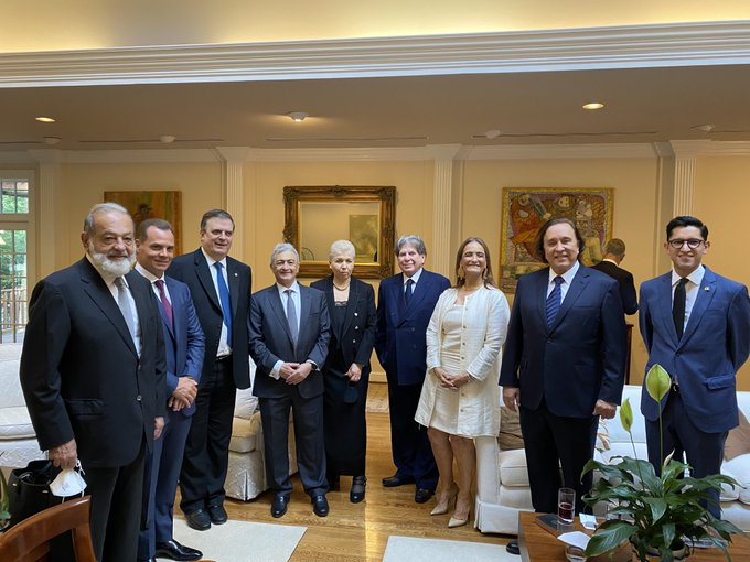 La cena de Presidentes en Washington…