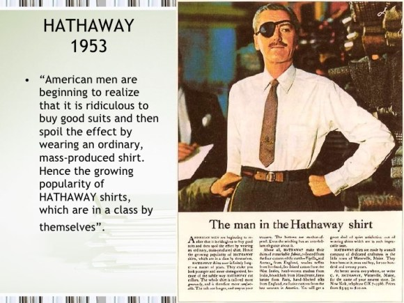Campaña de Ogilvy para camisas C.F. Hathaway en 1953