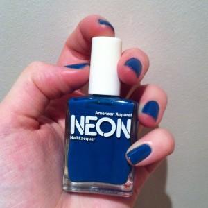 Swatch American Apparel Neon blue bleu