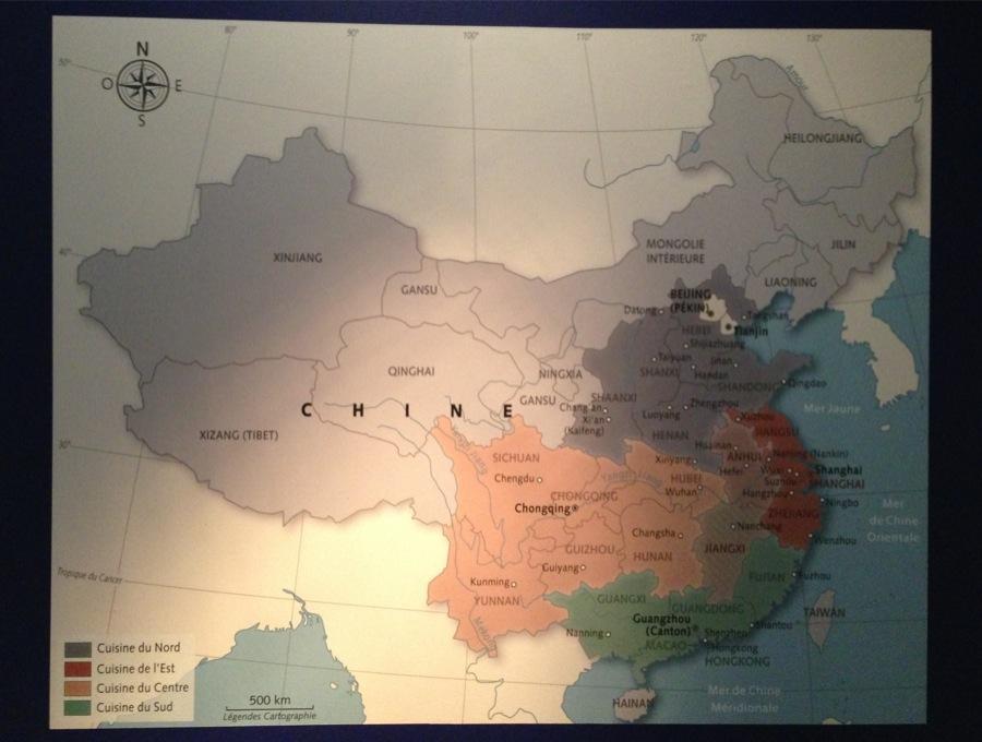 Expo Cuisiner & manger en Chine carte