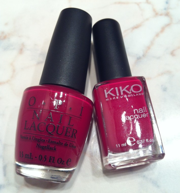 OPI Manicurist of Seville Kiko 287 Dark Carmine Red