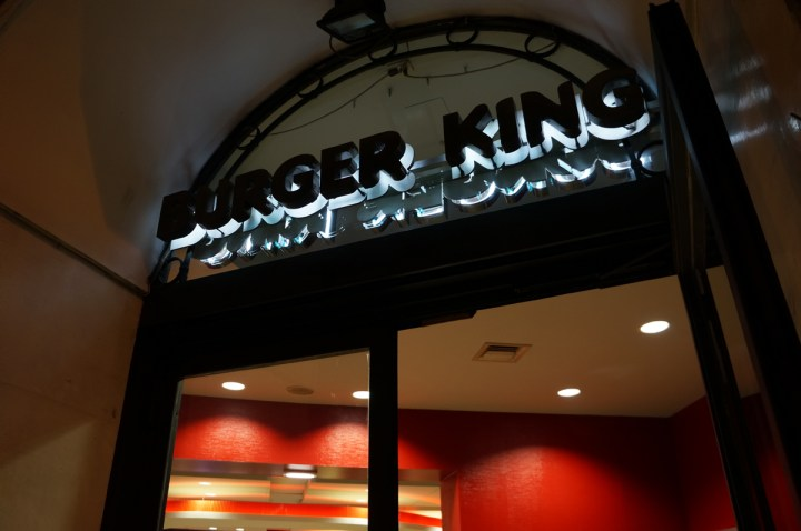 Burger King italie