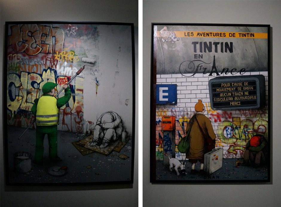 Expo au dela du street art musee poste Dran