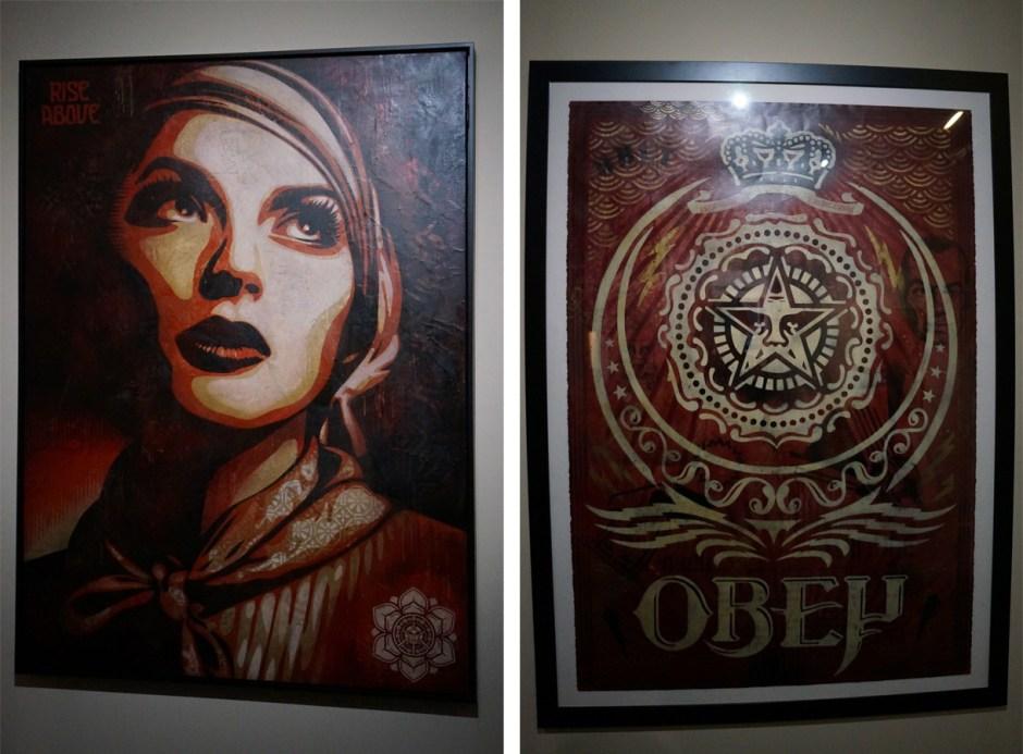 Expo au dela du street art musee poste Shepard Fairey