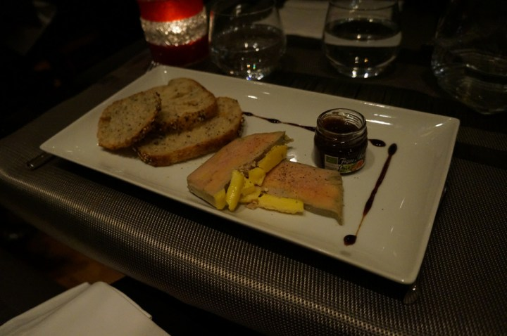 Bar touch in Paris avis fois gras canard chutney fruit
