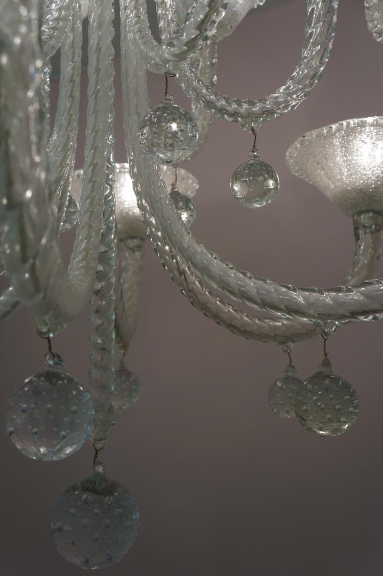 Exposition murano fragile musée maillol André Arbus Lustre : chandelier Jets d'eau