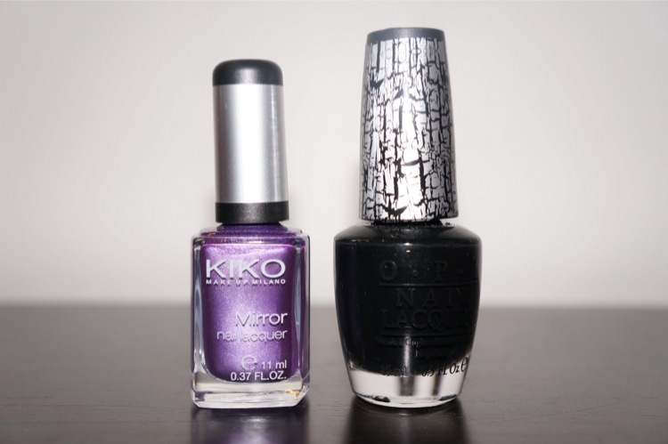 Kiko mirror purple Black Shatter OPI