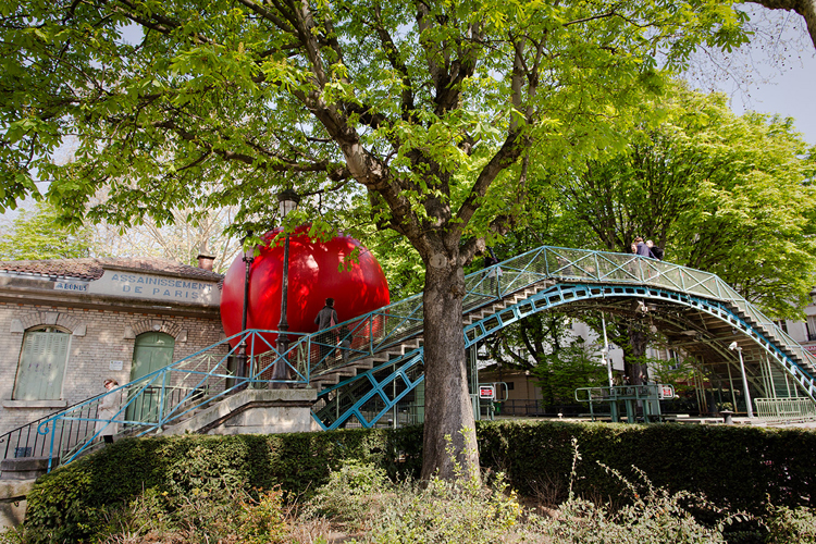 RedBall Project Paris canal saint martin