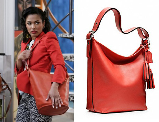 Coach Legacy Leather Duffle Red rouge Carrie Diaries