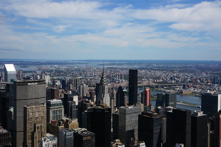 The empire state building view NYC